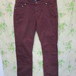 Стильный бордовые брюки/большой размер