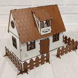 Домик для кукол LOL 2201 Сельский домик с мебелью, текстилем и светом
