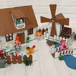 Домик для кукол LOL 2202 Сельский домик с мебелью, текстилем, светом и мельницей