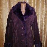 Красивая женская демисезонная куртка, пальто, шубка с натуральным мехом кролика Bess