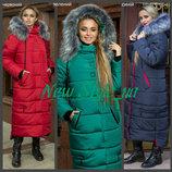 48-58, Зимове жіноче пальто, Зимнее женское пальто. Женский пуховик. Жіночий пуховик, довгий