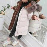 куртка детская теплая зимняя парка пальто пуховик на девочку для девочки