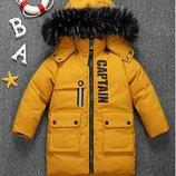куртка детская теплая зимняя парка пальто пуховик на мальчика для мальчика