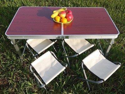 Стол усиленный 4 стула складной для пикника, рыбалки , природы 120x60