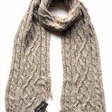 Тёплый вязаный шарф с шерстью и альпакой, C&A, Италия.