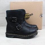 Кожаные женские ботинки Dr.Martens оригинал, размер 36 черные