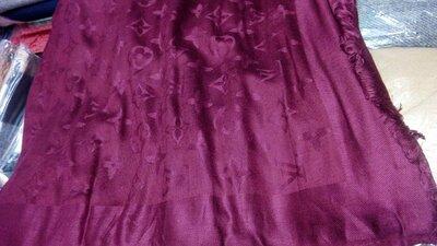 Палантин шарф женский Louis Vuitton . бордо