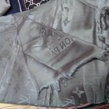 Палантин шарф женский Louis Vuitton. цвет темно-серый
