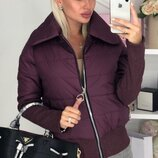 Теплая демисезонная куртка плащевка на молнии синтапон 150 скл.1 арт.58809