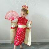 Прокат детский карнавальный костюм китаянка китаянки, японка китайский национальный костюм Киев