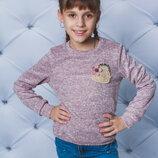 Кофта для девочек шерсть с резинкой два цвета