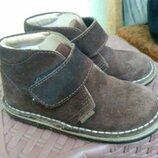 Туфли кожаные замшевые немецкие 17.5 см