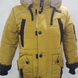 Зимняя куртка на мальчика на овчине Р. 26-36. Опт, дропшиппинг, розница