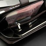 Мужское портмоне Wallery S1063 черный коричневый
