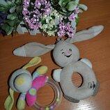 Мягкие погремушки, погремушки, плюшевые погремушки, грызунки, мягкие игрушки с грызунком, игрушки