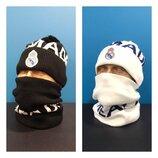 Комплект шапка и баф Real Madrid