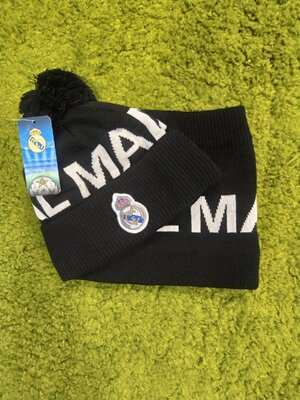 Комплект шапка и хомут Real Madrid