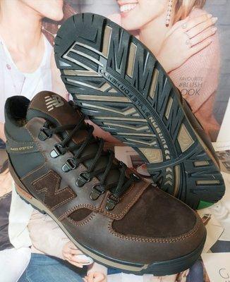Мужские зимние кожаные спортивные ботинки New Balance Winter коричневые кожа спорт стиль кроссовки