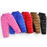 Теплые детские штаны на меху штаны теплые на мальчика на девочку утепленные штаны для девочки 440132