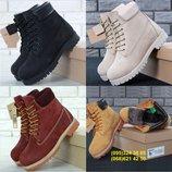 Зимние женские ботинки Тимберленд. Натуральный мех. Большой выбор.