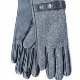 Женские комбинированные перчатки кожа /замш