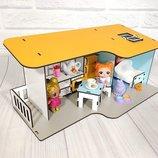 Домик для кукол LOL 2401 Пляжный домик мини с мебелью и текстилем