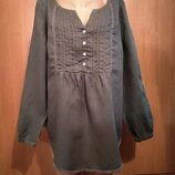 Шикарная льняная блузка, лён, из льна Пог 61 см