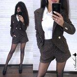 женский костюм шорты и пиджак букле amd 675