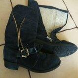 Сапоги, ботинки кожа
