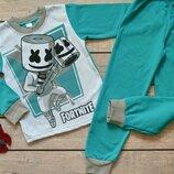 Пижама Пижамка теплая на баечке с начесом начес Хлопок 110-116-122-128-134