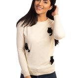 Теплая кашемировая кофта свитер с пушистыми котиками скл.80арт.2066