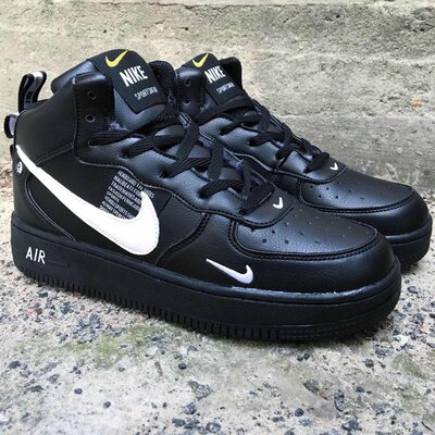 Мужские зимние ботинки кроссовки Nike Air Force.