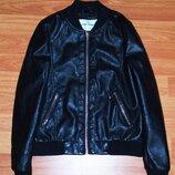Черная косуха,куртка, кожанка,кожаная куртка,9-10 лет,134,140 Состояние новой