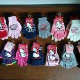 Детские перчатки митенки варежки Дисней Хелоу Китти Пони Скай щенячий патруль Эльза плюшева фея