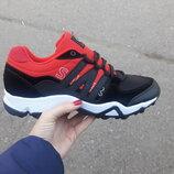 мужские кроссовки baas 41-46р черные с красным