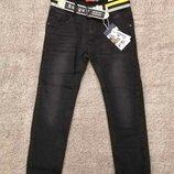 Черные джинсы на флисе р. 134-164 Seagull
