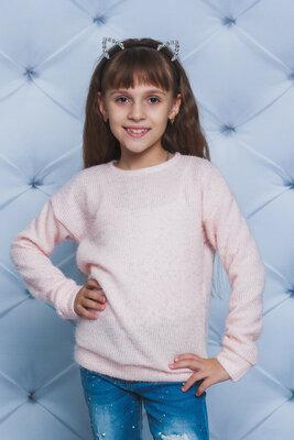 Модный свитер кофта для девочек три цвета