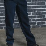 Утепленные спортивные штаны трехнитка мужские vsl-01371 темно-серые и темно-синие