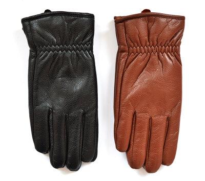 Мужские перчатки из экокожи на меховой подкладке