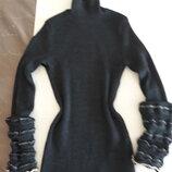 Теплая шерстяная кофта свитер гольф Франция