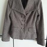 Шикарный шелковый шерстяной жакет пиджак