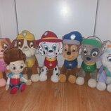 Мягкие игрушки 7 шт собачки 30 см и Райдер. персонажи из мультфильма Щенячий патруль Дисеней Disney