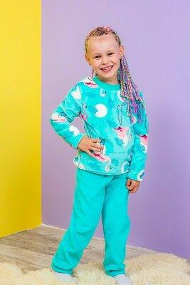 Очень теплые махровые пижамы для девочек