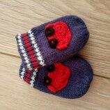 Царапки варижки руковички осень зима. Одежда для новорожденных.