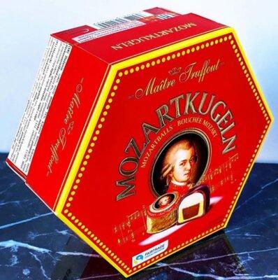 Элитные Шоколадные конфеты Mozartkugeln Maitre Truffout Австрия Марципан к дню Учителя