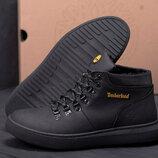 Мужские кожаные ботинки 55-1-1 черн.бот.
