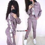 Модный стильный костюм вельвет М-403