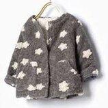 Стильное зуездное теплое пальто Zara 3-4