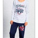 Тёплые пижамы для мальчиков на 9-10 байка