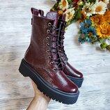 Ботинки WooDstock просто крутейшие натуральная замша/кожа/лакированная кожа наплак. итальянская ба